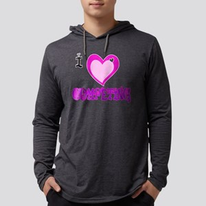 I Love COMPETING Mens Hooded Shirt