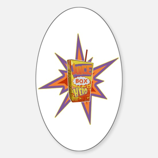 JUICE BOX HERO Oval Decal