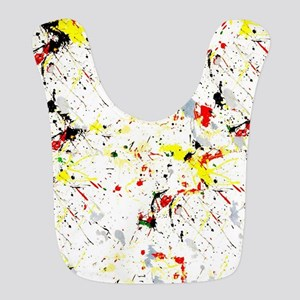Paint Splatter Polyester Baby Bib