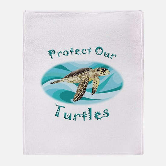 Sea Turtle Throw Blanket