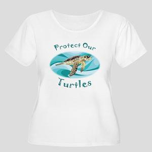 Sea Turtle Women's Plus Size Scoop Neck T-Shirt