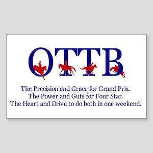 OTTB Rectangle Sticker