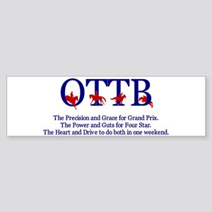 Save an OTTB Bumper Sticker