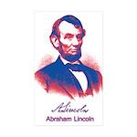 Abraham Lincoln Sticker (Rectangle 10 pk)