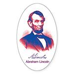 Abraham Lincoln Sticker (Oval 10 pk)