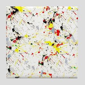 Paint Splatter Tile Coaster