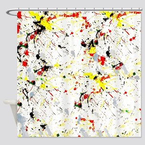 Paint Splatter Shower Curtain