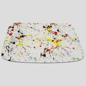 Paint Splatter Bathmat