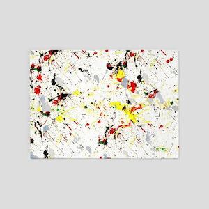 Paint Splatter 5'x7'Area Rug