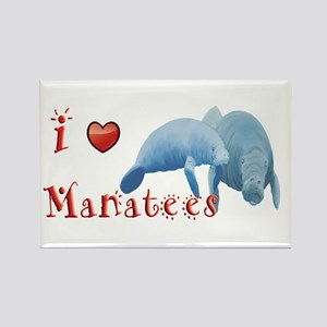 Manatee Rectangle Magnet