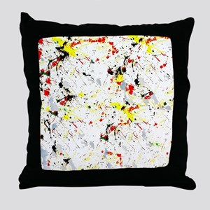 Paint Splatter Throw Pillow