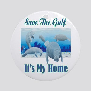 Save The Gulf Ornament (Round)