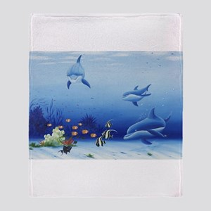 Dolphin Friends Throw Blanket