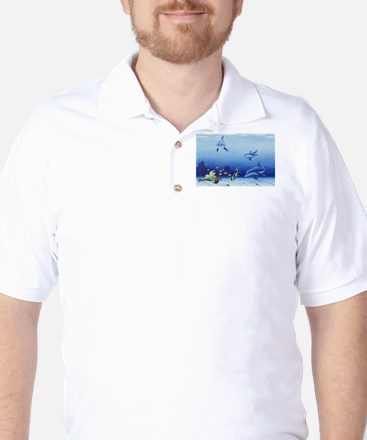 Dolphin Friends Golf Shirt