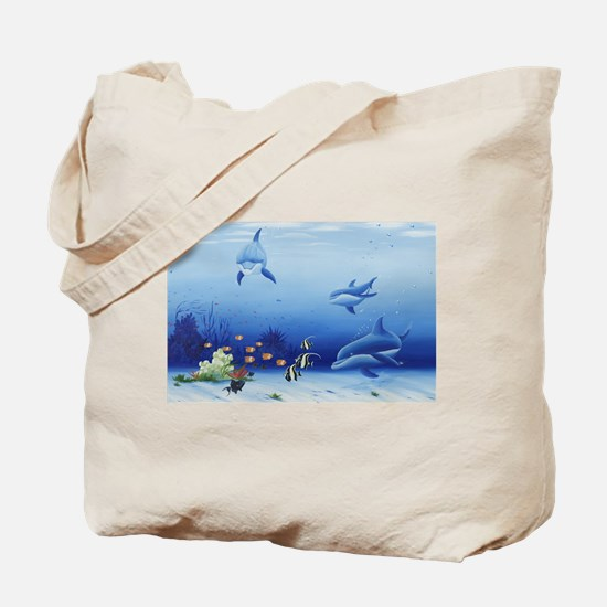 Dolphin Friends Tote Bag