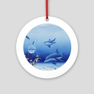 Dolphin Friends Ornament (Round)