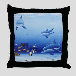 Dolphin Friends Throw Pillow
