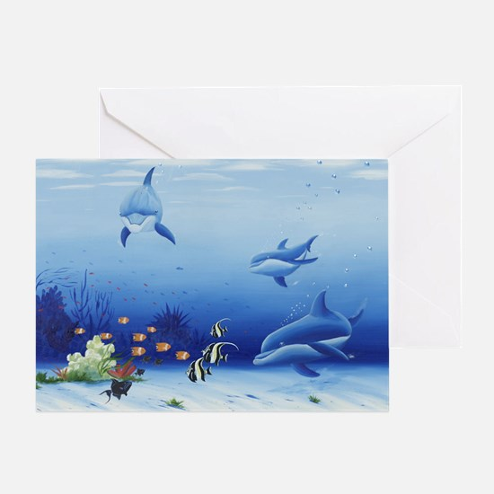 Dolphin Friends Greeting Card
