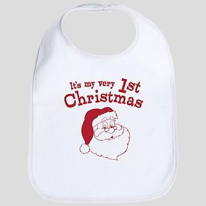 Retro 1st Christmas Bib