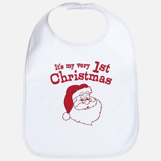 Retro 1st Christmas Bib