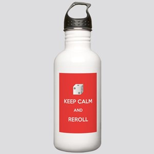 Keep Calm and Reroll Stainless Water Bottle 1.0L