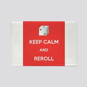 Keep Calm and Reroll Rectangle Magnet
