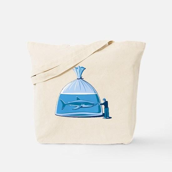 Shark in a Bag Tote Bag