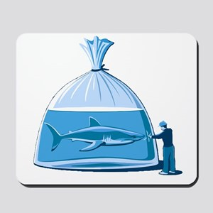 Shark in a Bag Mousepad