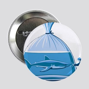 "Shark in a Bag 2.25"" Button"