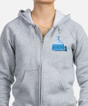Shark in a Bag Zip Hoodie