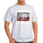 WTC Skyline Sketch Ash Grey T-Shirt