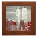 WTC Skyline Sketch Framed Tile