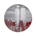 WTC Skyline Sketch Ornament (Round)