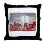 WTC Skyline Sketch Throw Pillow