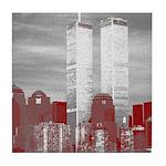 WTC Skyline Sketch Tile Coaster