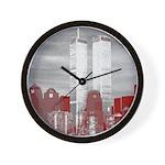 WTC Skyline Sketch Wall Clock