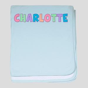 Charlotte Rainbow Pastel baby blanket