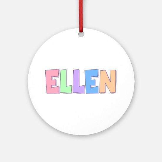 Ellen Rainbow Pastel Round Ornament