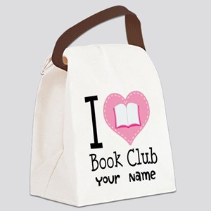 Personalized Book Club Canvas Lunch Bag