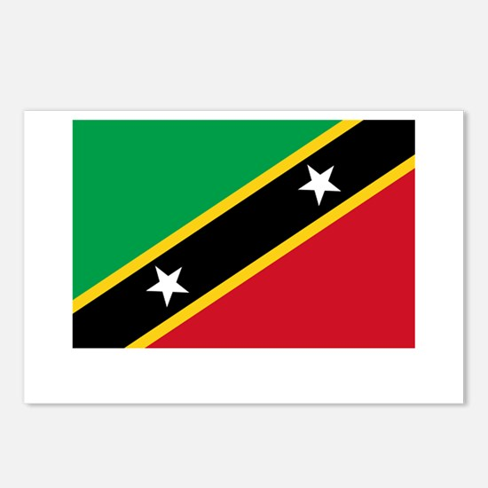Saint Kitts & Nevis Flag Picture Postcards (Packag