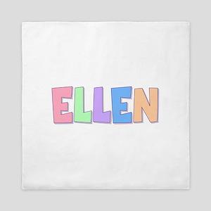 Ellen Rainbow Pastel Queen Duvet