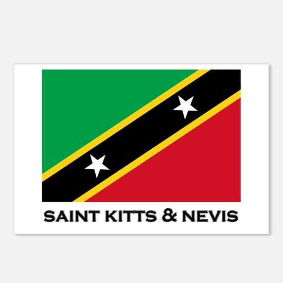 Saint Kitts & Nevis Flag Stuff Postcards (Package