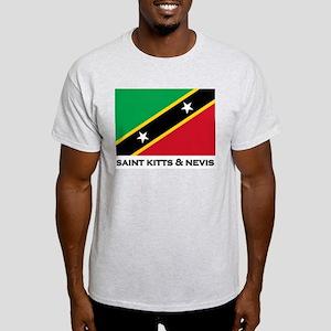 Saint Kitts & Nevis Flag Stuff Ash Grey T-Shirt