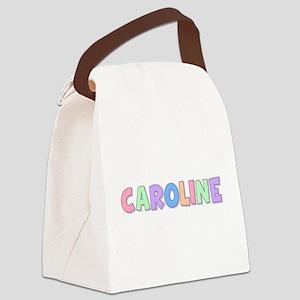Caroline Rainbow Pastel Canvas Lunch Bag