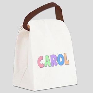 Carol Rainbow Pastel Canvas Lunch Bag