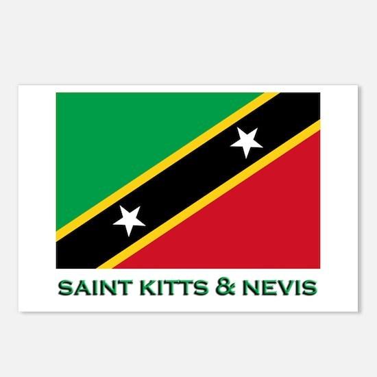 Saint Kitts & Nevis Flag Merchandise Postcards (Pa