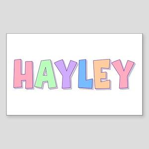 Hayley Rainbow Pastel Rectangle Sticker
