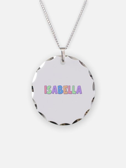 Isabella Rainbow Pastel Necklace Circle Charm