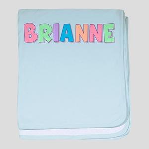Brianne Rainbow Pastel baby blanket
