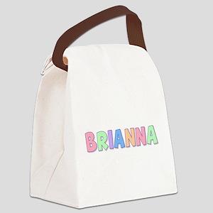 Brianna Rainbow Pastel Canvas Lunch Bag